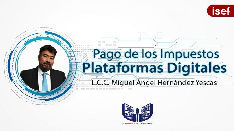 Pago de impuestos de las plataformas y/o aplicaciones digitales